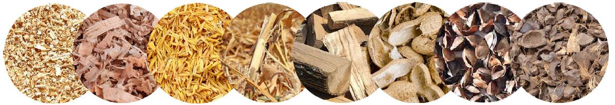 Materias primas disponibles para la máquina de fabricación de pellets de biomasa