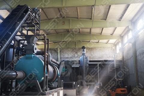 Машина для производства древесного угля в Турции