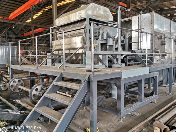 3500-4500 pieces Egg Tray Making Machine with metal dryer to Russia