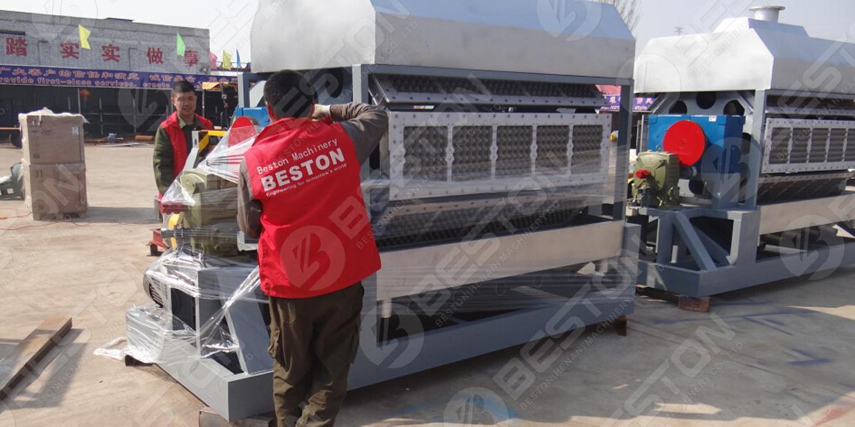 Машина для изготовления лотков для яиц 5000-5500 шт. / Ч отправлена в Египет