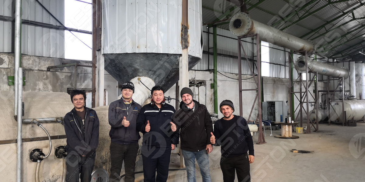 BLL-16 waste tire pyrolysis equipment in Romania