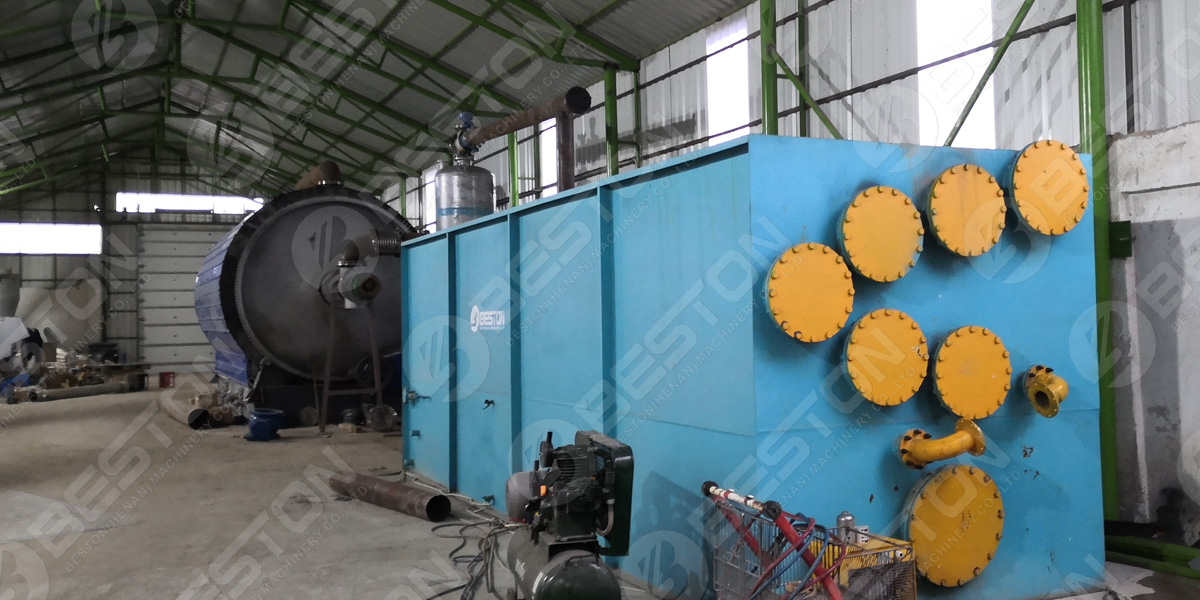 BLL-16 waste tire pyrolysis unit in Romania