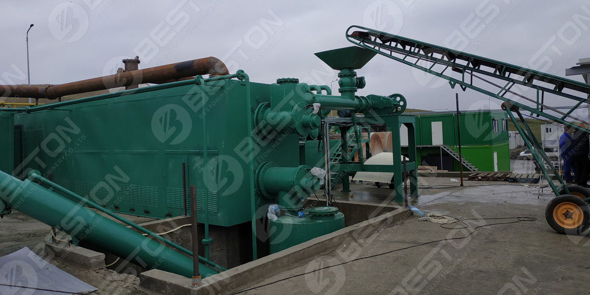 BLL-30 fully continuous waste plastic pyrolysis plants in Romania