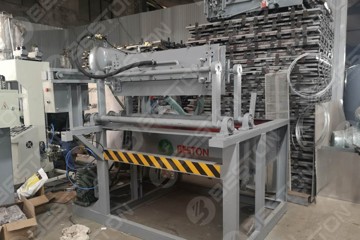 BTF1-3 Egg Tray Making Machine Shipped to Indonesia