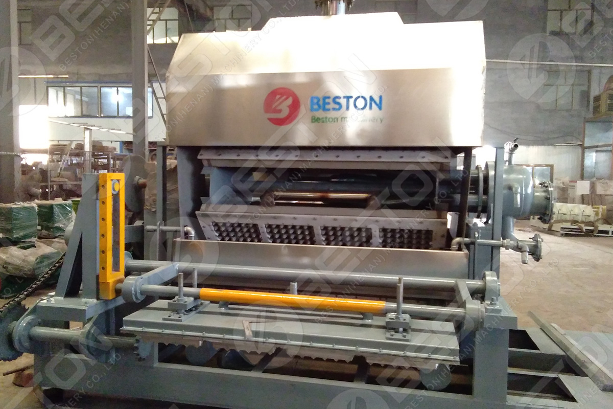 BTF4-4 Egg Tray Machine Shipped to Hungary