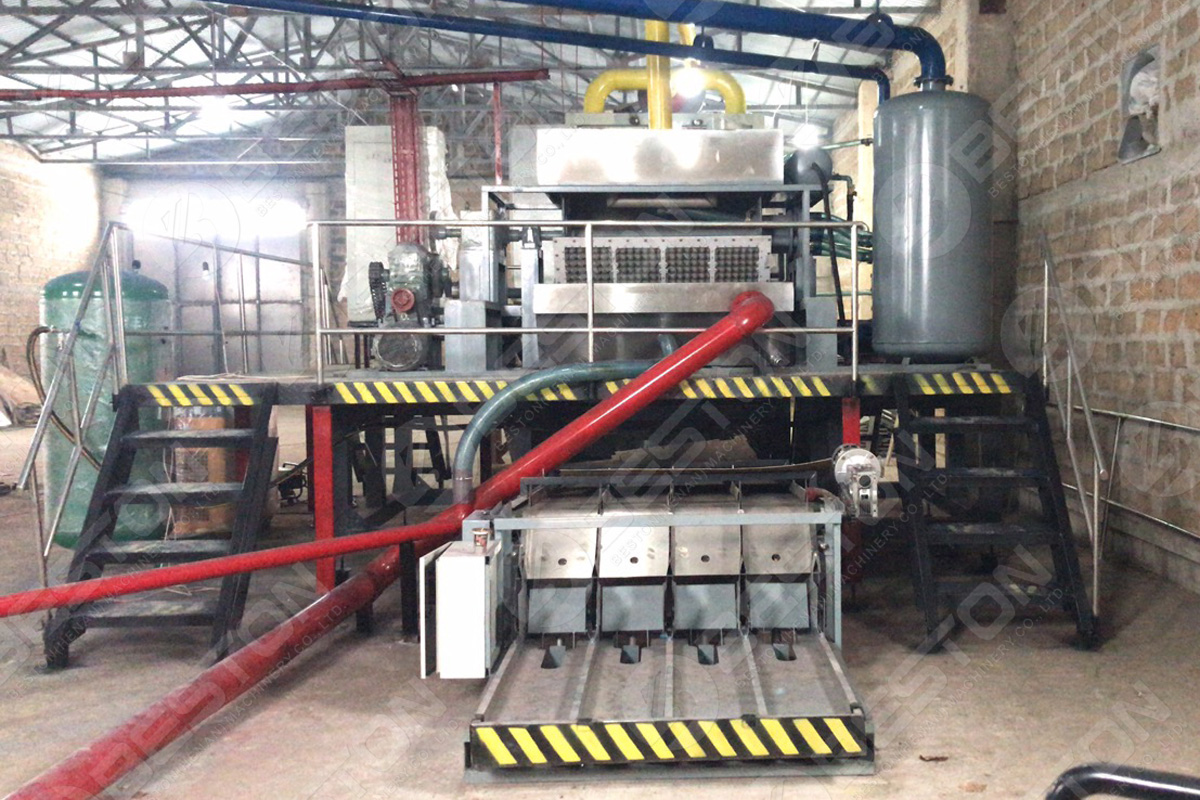 BTF4-4 Egg Tray Production Machine in Armenia
