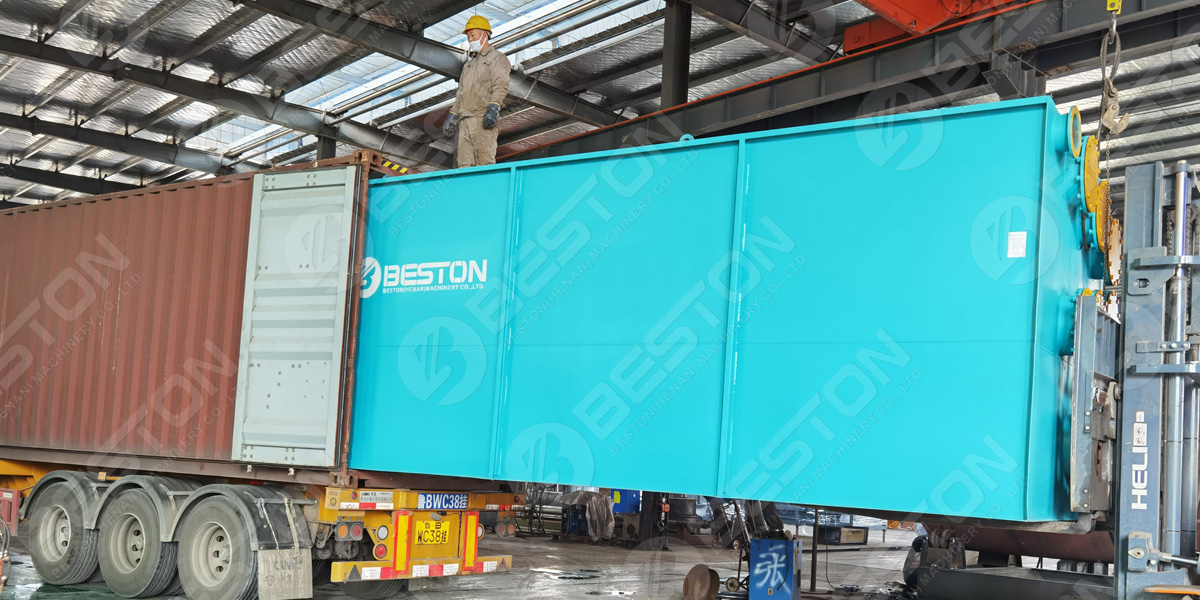 Beston BLJ-16 Tyre Pyrolysis Plant Shipped to Saudi Arabia in 2021