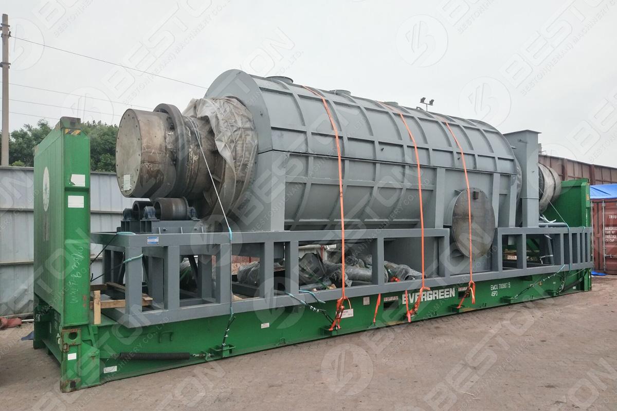 Beston Palm Shell Charcoal Making Machine Shipped to Malaysia