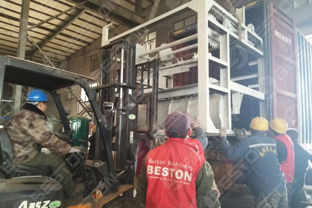 1200-1500 قطعة / ساعة آلة صينية البيض يتم شحنها إلى الفلبين