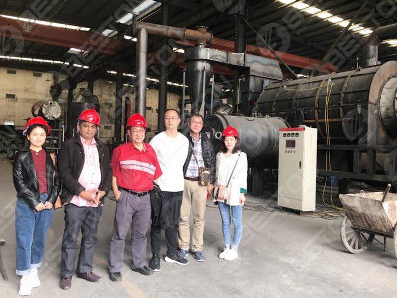 Malaysian Customers Visited Beston Charcoal Making Machine