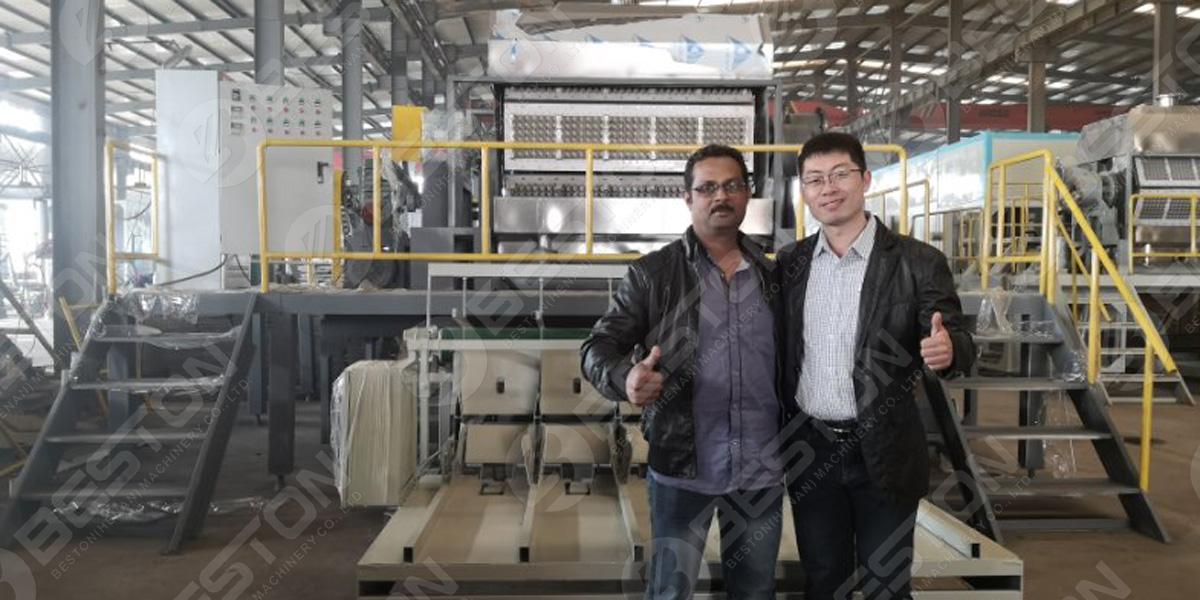 Заказчик из Саудовской Аравии проинспектировал завод по производству лотков для яиц BTF 5-8