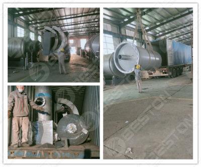 BST-J12 Batch Carbonization Machine Shipped to Ghana
