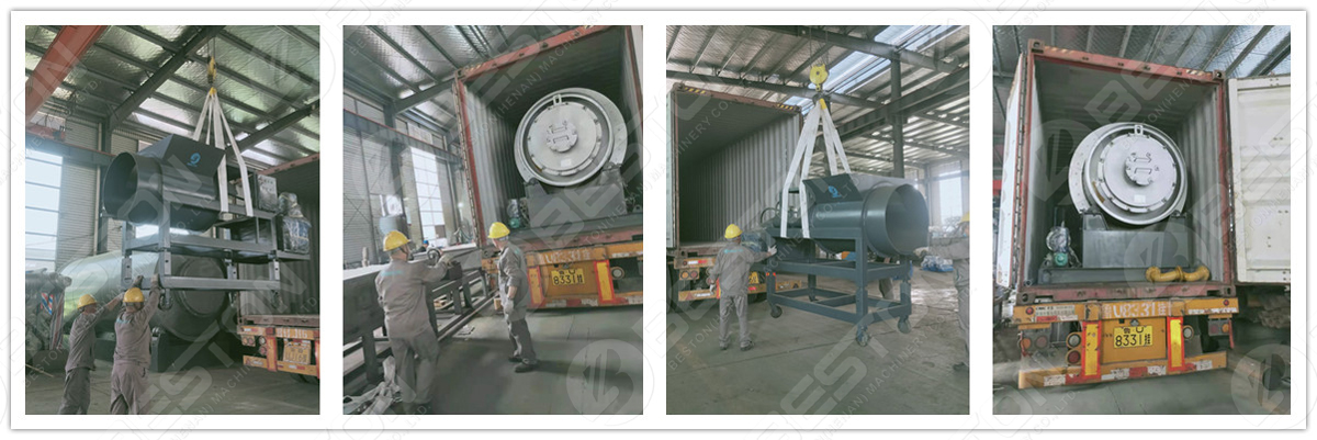 BLJ-3 Skid-Mounted Pyrolysis Plant Shipped to the Philippines