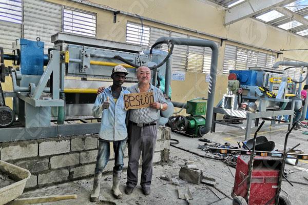 Beston Egg Tray Machine in Dominica