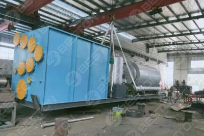 Beston مصنع الانحلال الحراري المركب بالانزلاق يتم شحنه إلى الفلبين