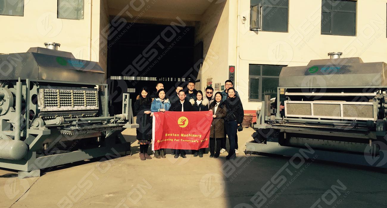 Acheter une machine à fabriquer des cartons à œufs en Chine Beston