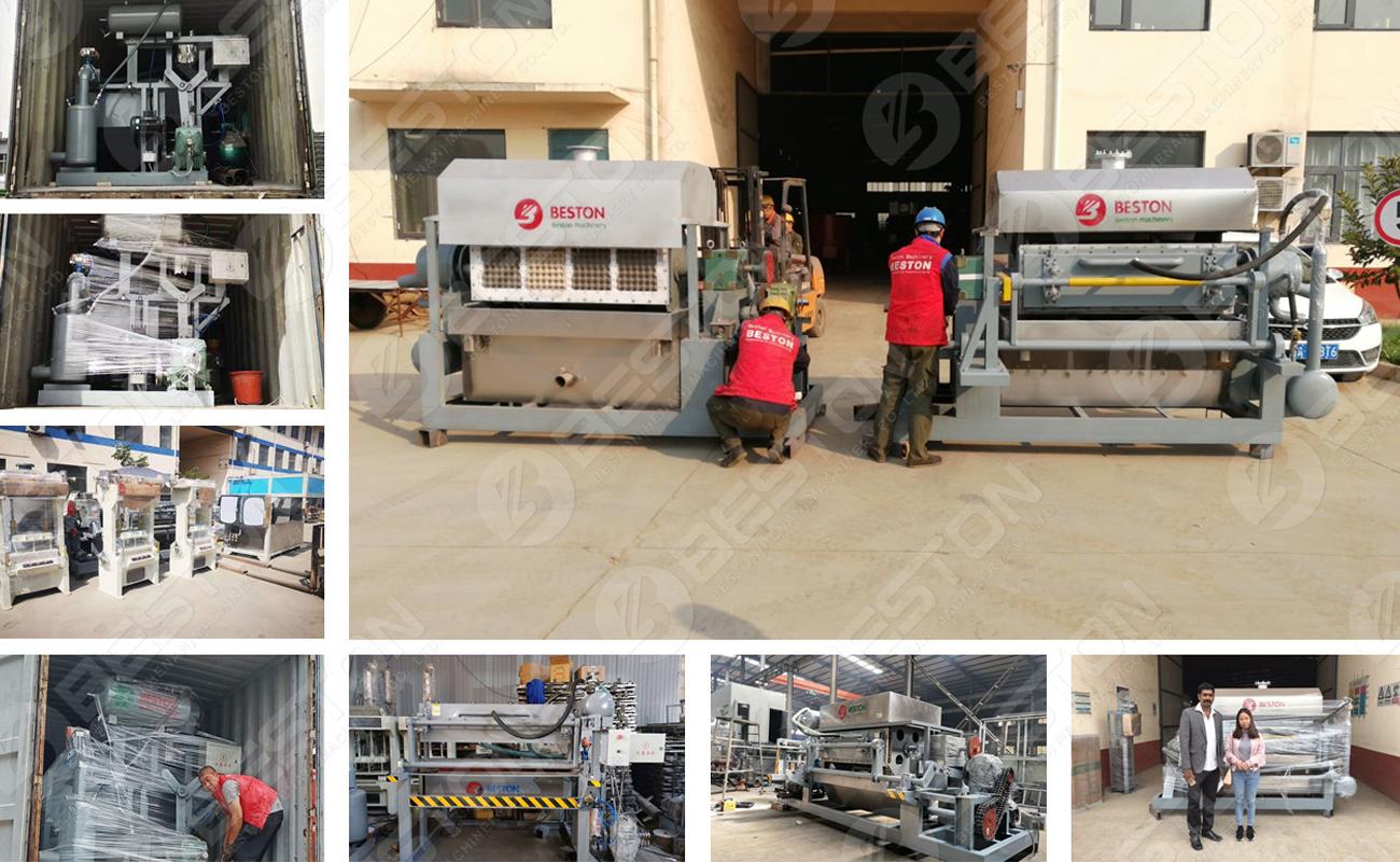 Livraison de la machine de fabrication de cartons à œufs