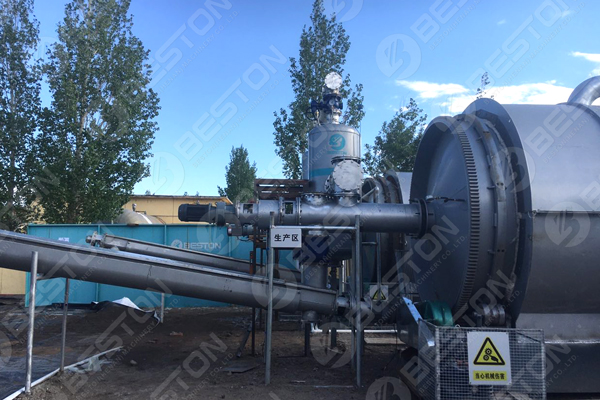 BLJ-16 Oil Sludge Pyrolysis Plant Installed in Inner Mongolia