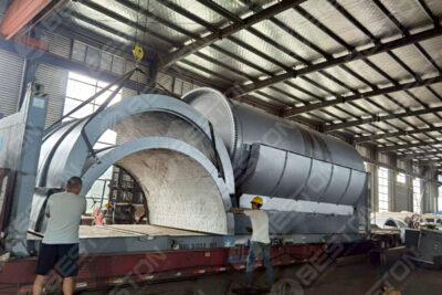 BST-J40 Batch Charcoal Making Machine Shipped to Spain