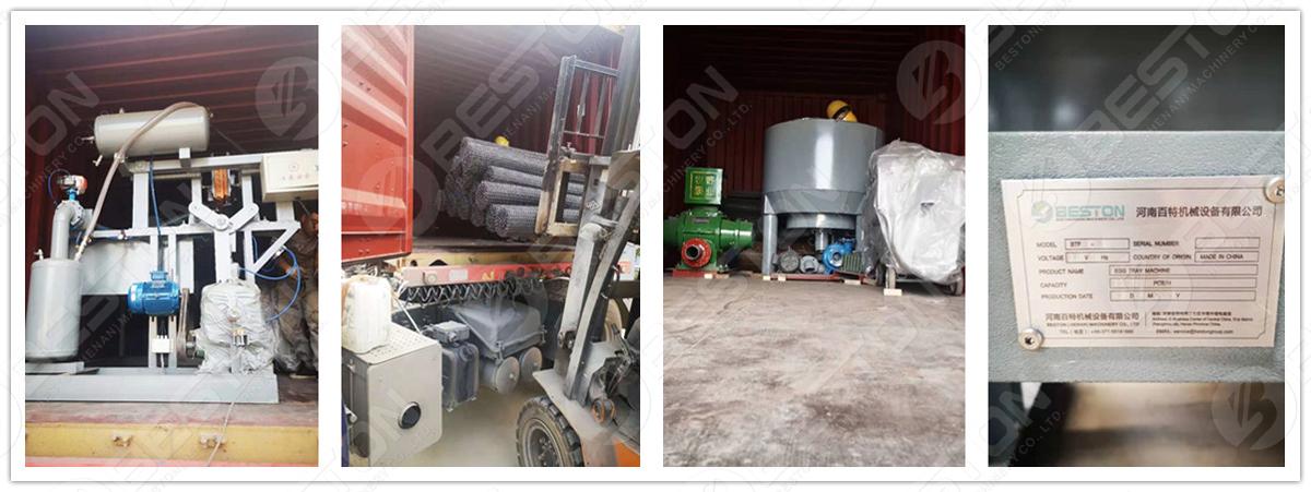 BTF1-4 Egg Tray Making Machine Shipped to Iraq