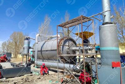 مصنع التحلل الحراري لحمأة الزيت في منغوليا الداخلية