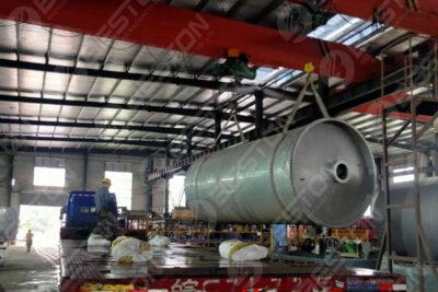 مصنع الانحلال الحراري للإطارات BLJ-12 يتم شحنه إلى نيجيريا