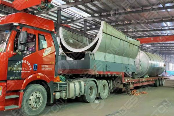 BLJ-16 Plastic Pyrolysis Plant Shipped to Ukraine