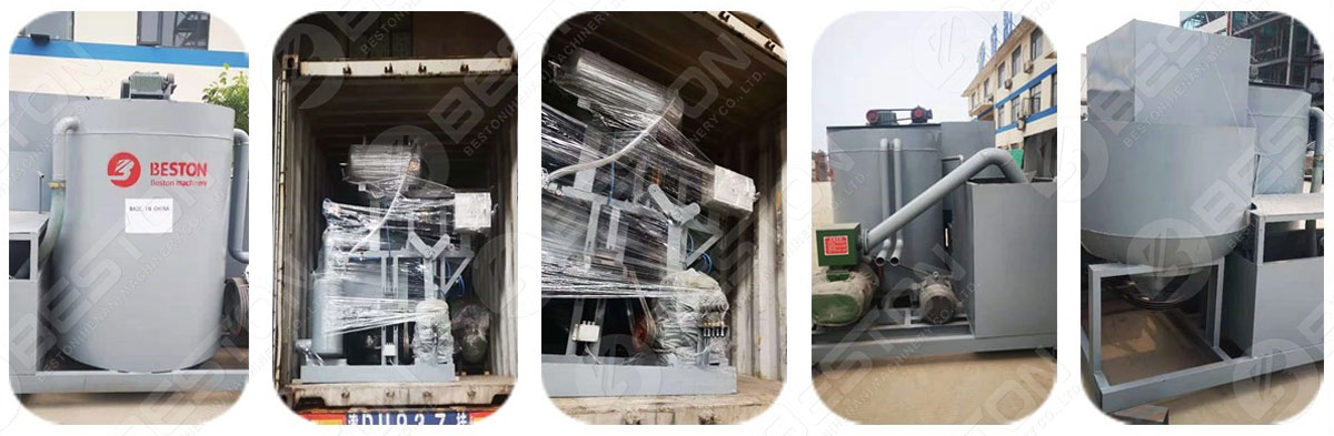 BTF1-4 Egg Tray Machine Shipped to the US