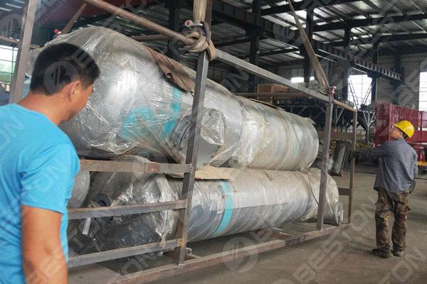 Condenser of Pyrolysis Plant to Nigeria