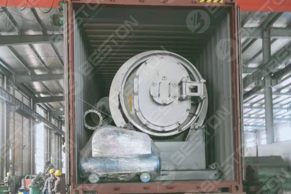 BLJ-3 Portable Tire Pyrolysis Plant Shipped to Paraguay in April