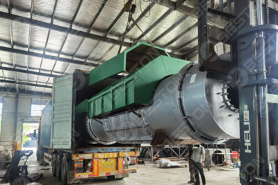 BST-10 Coffee Shell Charcoal Making Machine Shipped to Cameroon