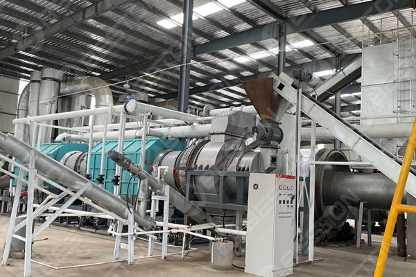BST-10 Sawdust Charcoal Making Machine Installed in China