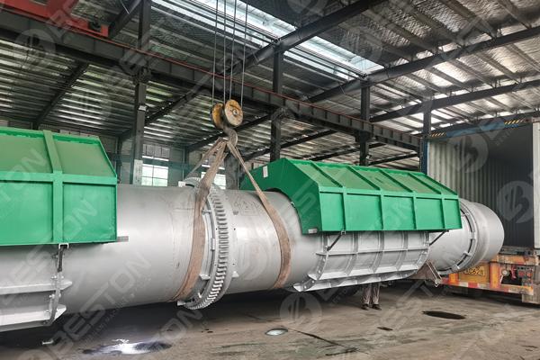 Beston Coffee Shell Charcoal Making Machine Shipped to Cameroon