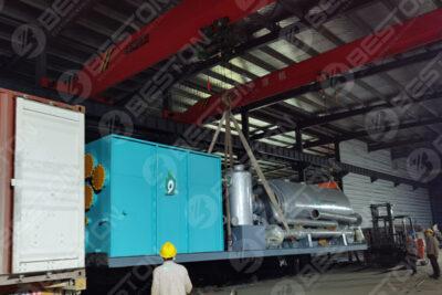 L'usine de pyrolyse des boues d'huile BLJ-3 expédiée à Oman