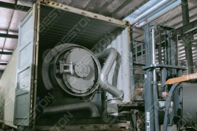Petite mini machine de pyrolyse conteneurisée BLJ-3 expédiée en Espagne en septembre