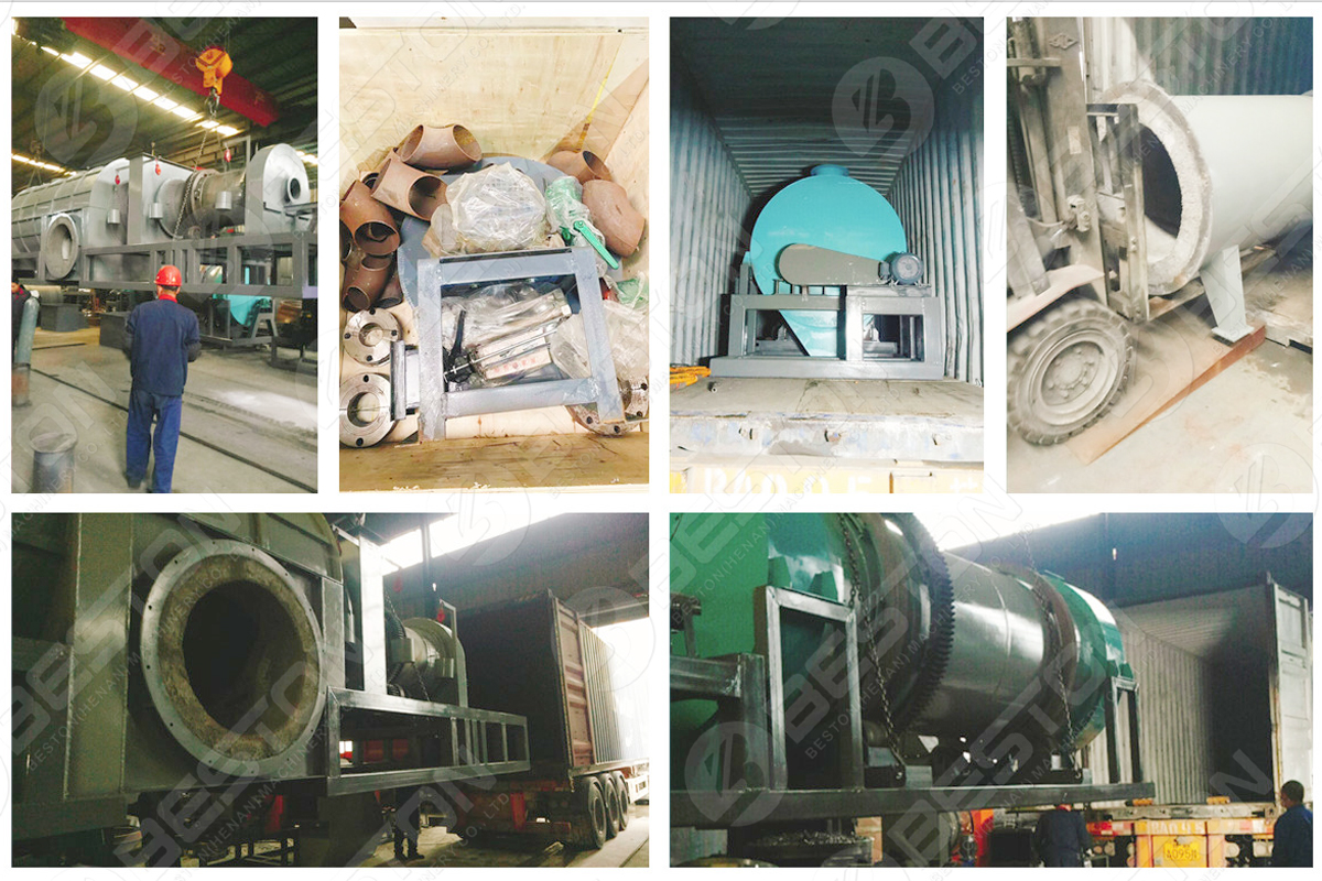 BST-10 Biomass Charcoal Making Machine Shipped to Mexico