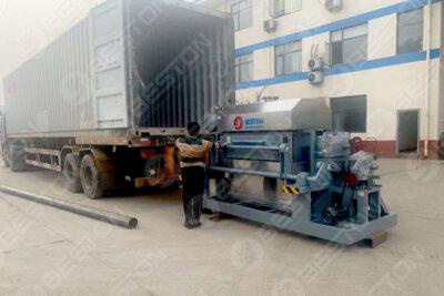 Machine à plateaux à œufs BTF4-4 livrée en Zambie