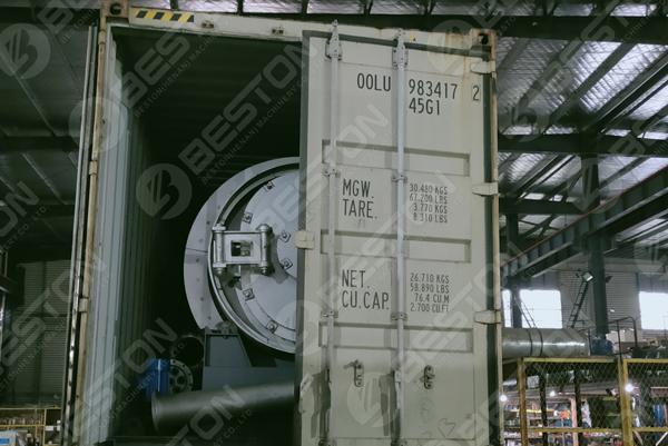 Beston Mini Pyrolysis Machine to Spain