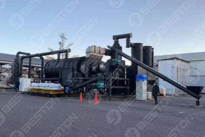 Beston Machine de fabrication de charbon de bois au Japon