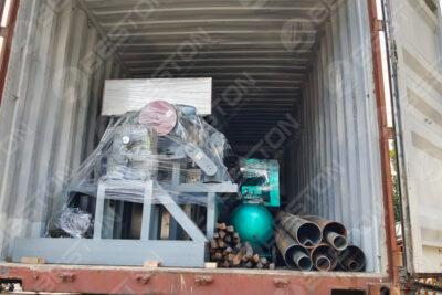 Expédition de la machine de fabrication de plateaux à œufs BTF4-4 au Ghana